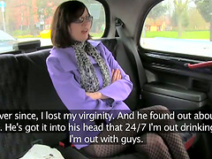 Nerdy girl had been dreaming about sex in the car