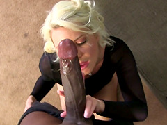 Big Black Cock For Hot Ass Blonde In High Heels