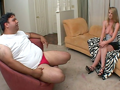Stunning Anita has sex with a dude with a small cock