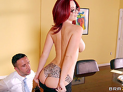 Redhead Busty Chick Jayden Jaymes Gets Nailed Hardcore By Keiran Lee