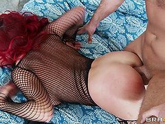 Redhead Asian Sweetheart Rides a Huge Dick Hardcore Doggystyle