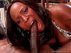 Tattooed Ebony With Big Tits Getting Penetrated From All Directions