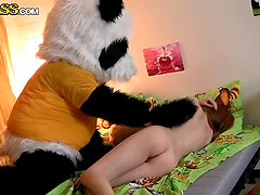 Sexy Teen Fucked By Her Panda Toy Bear