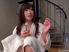 Hibiki Ohtsuki Has Snatch Pleased And Gives Bj