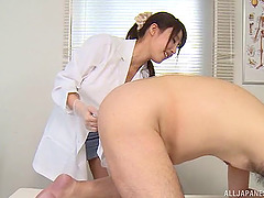 Naughty doctor fingers and toy fucks his willing asshole