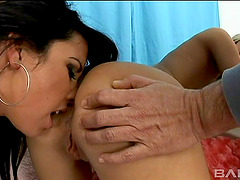 Sleazy cum sluts get ass fucked and they're treated to facials