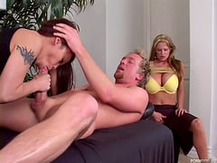 Kelly and Luci combine the thick dick with some crazy vibrations