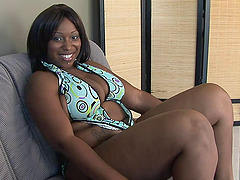 Big butts ebony takes two dicks as she is fucked while sucking a cock
