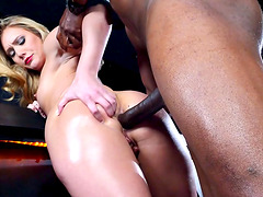 Big ass slut at the bar lubed and anally pounded by BBC