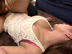 Beautiful big natural Japanese tits in a hardcore scene