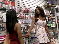 Black girls at the porn store gloryhole to suck dicks