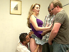 Sexy Tera Knightly is once again ready to have a gangbang session
