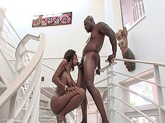 Big booty black babe is a skinny fuck slut craving cock