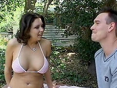 Enchanting Drew Lynn finally experiences the deep anal penetration