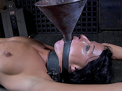 Kinky starlet gets tied up and has her pussy drilled with a toy