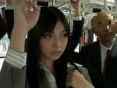 Japanese babe with long hair giving out blowjob in public compilations