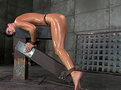 Bondage cowgirl withstanding rough fucking in BDSM