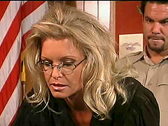Sexy blonde judge is going to have her pussy wrecked