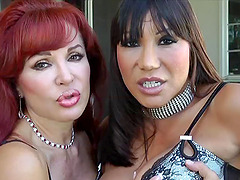 Hot redhead and Ava Devine are curious about a sex machine