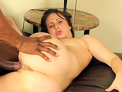 Jackie Jevaux has her restless cunt penetrated with a brown rod