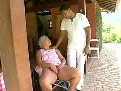 Hot ass matured granny enjoying big cock hardcore doggystyle