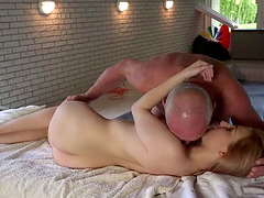 Steamy massage and doggy twat draining with Emily Rose and Nico