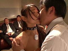 Group fuck with alluring brunette sex slave Sho Nishino