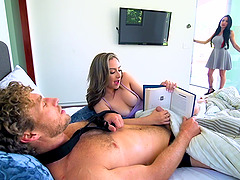 Perfect girlfriend Lily Jordan doing everything to make her man happy