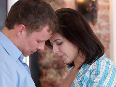 Adorable Babe Rebecca Rainbow Is Fucked Up the Ass by Her Boyfriend