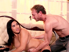 Mia Li is a pretty brunette whose pussy needs a pounding