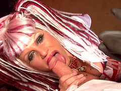 Kelly Madison rides a mad professor's erected love tool