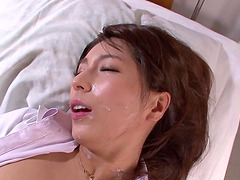 Beautiful Nami Hoshino bends over for a fuck with a fellow
