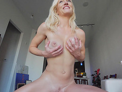 Gorgeous MILF Serene plays with her perfect huge tits
