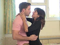 Sucking and riding a delicious cock makes Tara Holiday happy