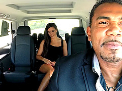 Gala Brown wants to fuck with a horny black guy in the car