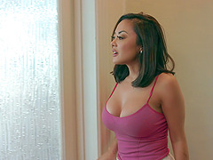 Kate Kennedy and Kaylani Lei take turns riding a big fat dick
