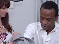 Mature amateur redhead MILF Toni Lace gets fucked by a big black dick