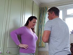 Mature brunette amateur MILF Eva Jayne gets her hairy pussy pounded
