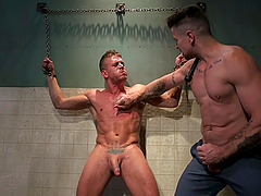 Gay hardcore sex is all that horny gay Trenton Ducati needs today