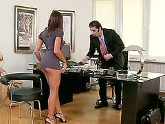 Spectacular and Horny Secretarie Shanis Fucked By Two Dicks in the Office