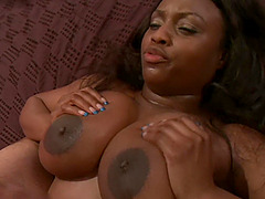 busty ebony Codi Bryant adores all possible sex poses with her lover