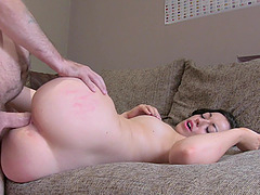 Silvia Rubi gets her pussy fucked and fingered in the stranger's room