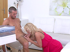 Cristal Caitlin gets her pussy pounded by a horny stranger in her office