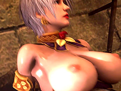 Nice big tits babes with amazing ass ride huge cocks of strange aliens in their dungeons