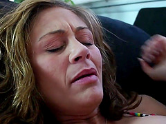 Chasey Lain and hot latin Audrey Aguilera have a hot lesbian office sex