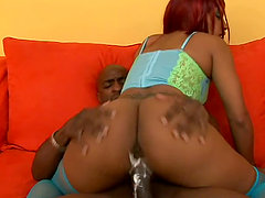 Mercedez sucks her BF's BBC and enjoys jumping on it