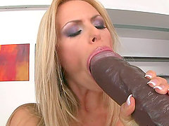 I like to have my mouth loaded with a black dildo