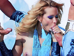 Pornstar jessica drake fucked by two dudes at the same time