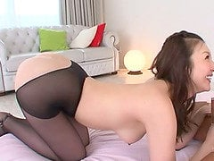 Japanese Bombshell Yui Tatsumi Fucke In Her Sexy Pantyhose