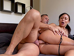 Balls deep first time anal sex for natural tits wife Cassie Del Isla